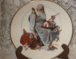 """Norman Rockwell Collectible Christmas Plate """"Santa's Helpers""""-Gorham- 1979 - $11.00"""