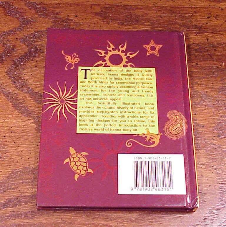 Henna Body Art Hardback Book by Mark Smith, Small Book HB