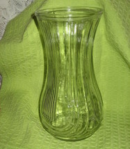 Hoosier Clear Glass Vase - Art Deco - $10.00