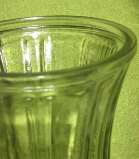 Hoosier Clear Glass Vase - Art Deco