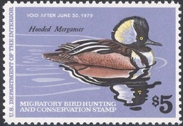 RW45, Hooded Merganser Federal DUCK STAMP VF OG NH - Stuart Katz - $7.00