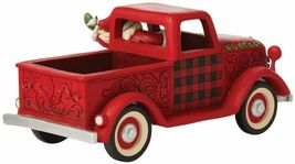 """Jim Shore 13.5"""" Long Large Red Truck Figurine  - Loads of Christmas Cheer image 3"""