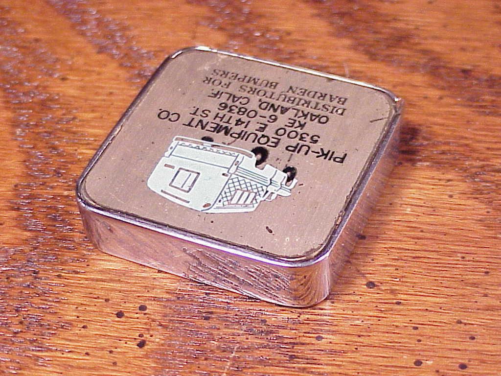 1960's Pik-Up Equipment Advertising Tape Measure, Oakland, California, CA