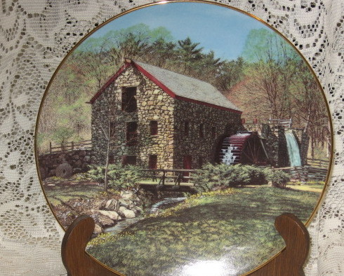 Old Mill Stream Collector Plates-Knowles -Retired Series-Set of 4
