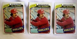 Mike Schmidt 1980 Topps Card#270 Lot of 3 Condition EX++-Philadelphia Ph... - $7.12