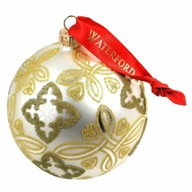 Waterford Holiday Heirloom Silver Celtic Knot Ball Ornament - $38.16
