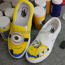 Custom Vans Shoes Minions Custom Designed Anime Shoes Vans Shoes Canvas ... - $93.49