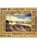Grand Canyon National Park Points of Interest Engraved Wood Picture Fram... - $28.41