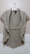 INC INTERNATIONAL CONCEPTS Tan Shrug Cardigan Ladies Large Open Front Sw... - $28.53