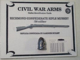 CIVIL WAR ARMS MINI REPLICA RICHMOND CONFEDERATE RIFLE MUSKET, GARDNER B... - $9.26