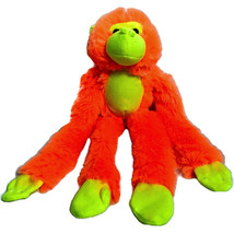 Peek a Boo Toys Hanging Orange Monkey Plush Long Arms Neon Stuffed Anima... - $9.02