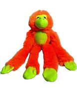 Peek a Boo Toys Hanging Orange Monkey Plush Long Arms Neon Stuffed Anima... - $9.02