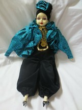 """Bradley Imports Porcelain Harlequin Musical DOLL Send In The Clowns 22"""" ... - $25.00"""