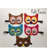OWL PARTY MASKS (5) ~ Birthday Party Supplies Favors Hats Cute - $12.38