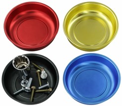 """Drixet 4"""" Mini Magnetic Parts Tray Nut and Bolt Round Bowl Set 