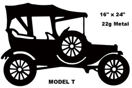 """Ford Model T Reproduction Hot Rod Laser Cut Out Silhouette Sign 16""""x24"""" - $37.62"""