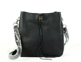 Rebecca Minkoff Darren Deerskin Leather Shoulder Bag - Black (Retail $325) - $163.35