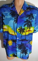 Royal Creations Mens L Large Hawaiian Aloha Short Sleeve Shirt 100% Cott... - $15.58