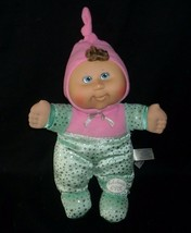 "12"" 2008 Cabbage Patch Kids Baby Pink Green Soft Stuffed Animal Plush Toy Doll - $26.18"