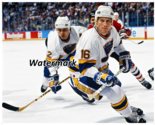 NHL St.Louis Blues Brett Hull Adam Oates Game Action Color 8 X 10 Photo Picture