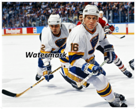 NHL St.Louis Blues Brett Hull Adam Oates Game Action Color 8 X 10 Photo ... - $5.63