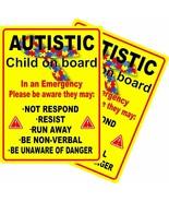 2 PC- Autistic Occupant in Vehicle Autism Awarenesscar Bumper Sticker Vi... - $9.85