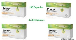 Bayer Priorin 240 Capsules - 4 x 60 Capsules - Hair Growth Loss Treatment - $100.99