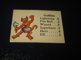 1980 TSR D&D: Dungeon Board Game Piece: Monster 1st Level - Goblins - $1.00