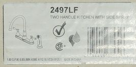 Delta Cassidy Two Handle Kitchen Faucet Side Spray Chrome 2497LF image 5