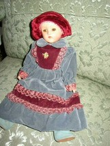 Vintage, Effanbee Suzanne, 14in  Composition Doll in Velvet Gown - $56.95