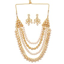 Indian Bollywood  White Party Gold Plated Kundan Traditional Fashion Jew... - $24.74