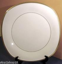 "Lenox ETERNAL WHITE Large Square Serving Platter 13.5"" Gold Banded New - $39.90"