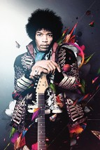 JIMI HENDRIX POSTER 24x36 UK Import Guitar Psychedelic Jacket Experience... - $24.99