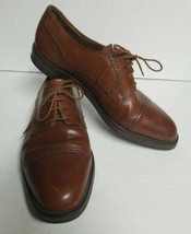 Cole Haan men's size 9.5 M brown Brogues Oxford Cap Toe Dress Shoes Heavy Duty - $49.50