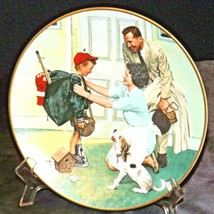 """1990 Coming of Age """"Home from Camp"""" by Norman Rockwell AA20-CP2292 Vintage Comme"""