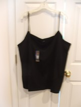NWT Faded Glory Cami Tank Top  5X Black Spaghetti Strap Plus Womens  5x - $8.90
