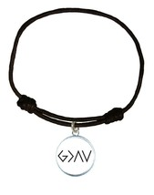 G>^v God Is Greater Than Our Highs and Lows Leather Bracelet Unisex Jewelry Gift - $13.80