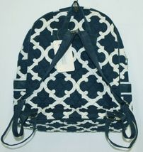 NGIL OTG2828NY Color Navy and White Quilted Microfiber Backpack Geometric Design image 3