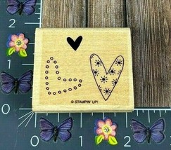 Stampin' Up! Three Hearts Rubber Stamp Background Solid Design Outline #K102 - $2.48