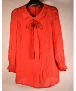 Marc By Marc Jacobs Womens Womens Silk Blouse LS Top Red 0 - $34.65