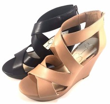 Jessica Simpson Jenay Platform Wedge Closed Back Strappy Sandals Choose ... - $74.00