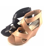 Jessica Simpson Jenay Platform Wedge Closed Back Strappy Sandals Choose ... - $44.40