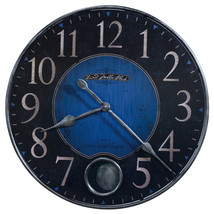 Howard Miller 625-568 (625568) Harmon II Wall Clock - Cobalt Blue and Black - $249.00