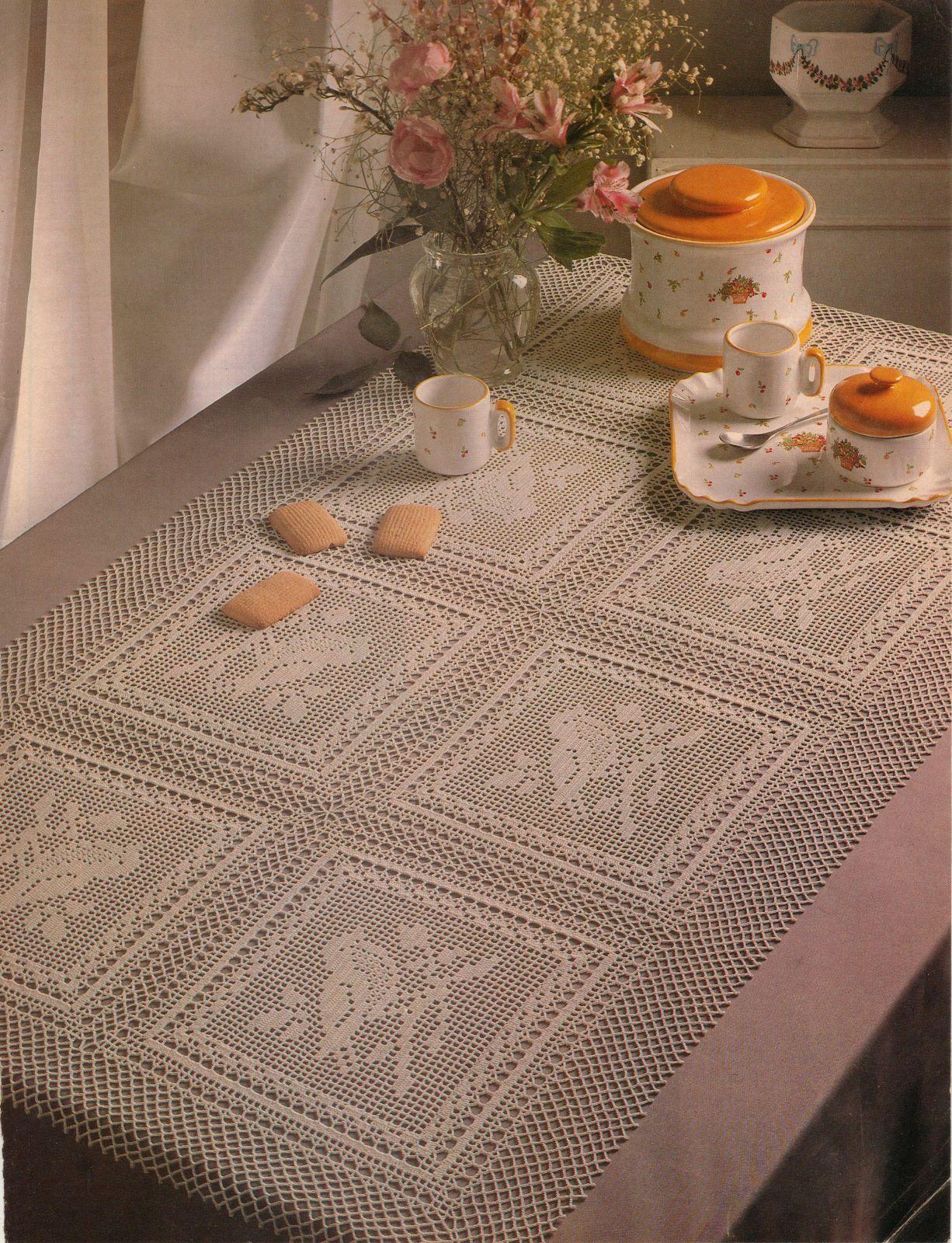 Advanced Sparrow Bird Panel Table Top Victorian Mansion Pillow Crochet Pattern