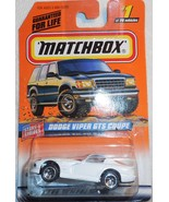 """1998 Matchbox """"'Dodge Viper GTS Coupe"""" #1 of 100 Vehicles On Sealed Card - $4.00"""