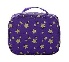 Creative Portable Waterproof Cosmetic Bag Toiletry Bag Makeup Case Purple - £10.23 GBP