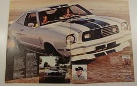 1976 Ford Cobra Strikes Again Cobra II Print Ad Carroll Shelby Free Whee... - $9.99