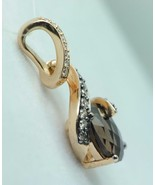 LEVIAN 14K Rose Gold Smoky Quartz Chocolate and Vanilla Diamond Pendant - $470.00
