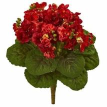 """Modern Red 12? Violet Bush Artificial Flower (Set of 4) - 12"""" - $74.53"""