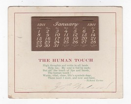 THE HUMAN TOUCH RICHARD BURTON 1911 VINTAGE CALENDAR POSTCARD UNKNOWN SI... - $3.98